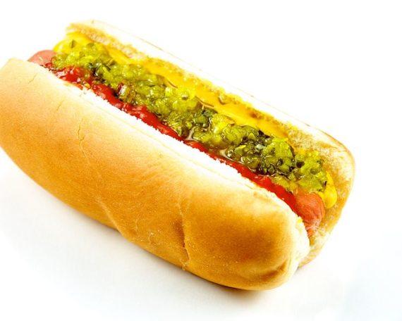 hot dog américain